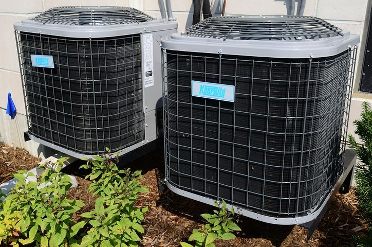 two large hvac units outside of annapolis rental property